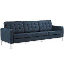 Loft Upholstered Fabric Sofa in Azure