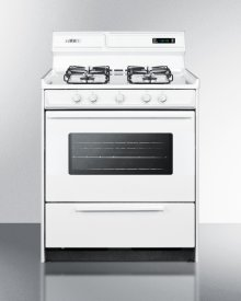 "30"" Wide Gas Range In White With Sealed Burners, Digital Clock/timer, Oven Window, Interior Light, and Spark Ignition"