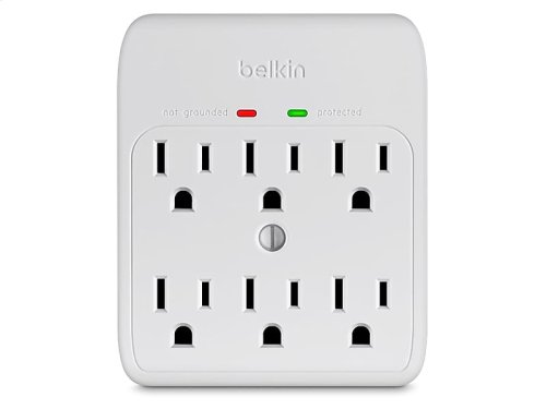 6-Outlet Wall Mount Surge Protector