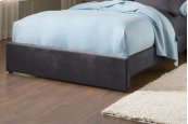 Fabric Universal Footboard - Queen - Pewter