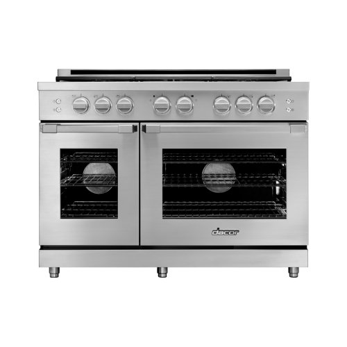 """48"""" Heritage Gas Pro Range, Silver Stainless Steel, Natural Gas/High Altitude"""
