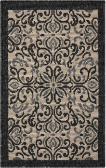 Caribbean Crb12 Ivory/charcoal Rectangle Rug 1'9'' X 2'9''