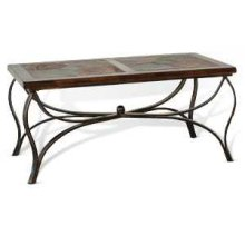 Santa Fe Coffee Table w/ Metal Base