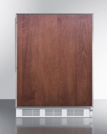 Ada Compliant Commercial All-refrigerator for Freestanding General Purpose Use, Auto Defrost W/ss Door Frame for Custom Panels and White Cabinet
