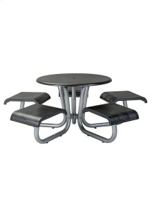 """42"""" Round Picnic Table with 5 Seats, Square Pattern"""