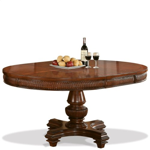 Windward Bay - Table Pedestal - Warm Rum Finish