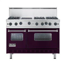 "Plum 48"" Open Burner Commercial Depth Range - VGRC (48"" wide, six burners 12"" wide char-grill)"