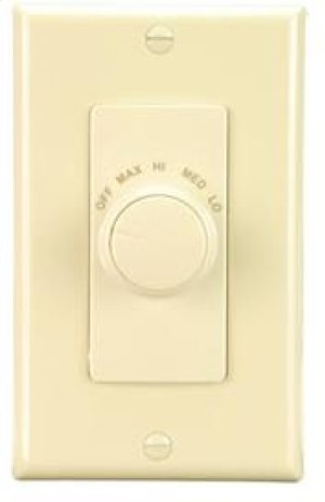 Fan Wall Control for Ventilation Fans in Ivory