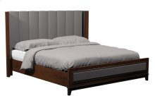 American Modern Vertical Panel Upholstered Queen Bed