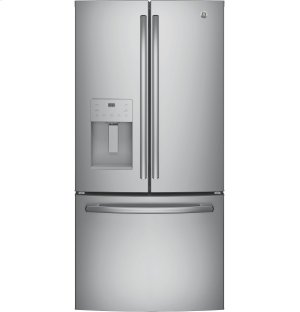 GE® ENERGY STAR® 17.5 Cu. Ft. Counter-Depth French-Door Refrigerator Product Image