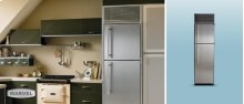 "24"" Refrigerator with Top Freezer - 24"" Marvel Refrigerator with Top Freezer - White Interior, Stainless Steel Door, Right Hinge"