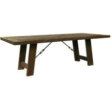 "96"" x 42"" x 30"" ""Las Piedras"" Dark Oak Finish Dining Table"