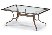 "42"" x 68"" Rectangular Dining Table w/ hole Ogee Rim"