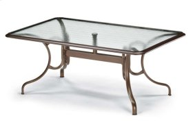 "42"" x 68"" Rectangular Dining Table w/ hole Ogee Rim"