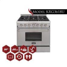 Model KRG3618U 36 Pro Class Kitchen Range