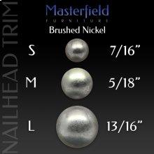 Brushed Nickel Nail Head Trim