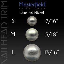 Brushed Nickel Nail Head Trim