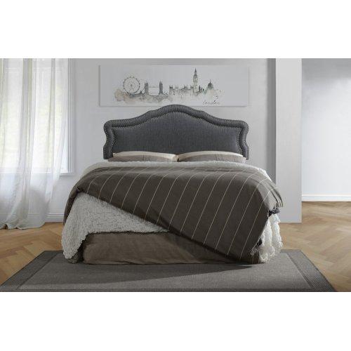Emerald Home Full 4/6 Upholstered Headboard Gray #6086-2