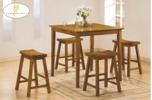 5-Piece Pack Counter Height Set, Oak Finish Also Available: