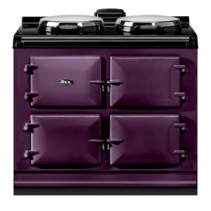 "AGAAGA Dual Control 39"" Electric Aubergine with Stainless Steel trim"