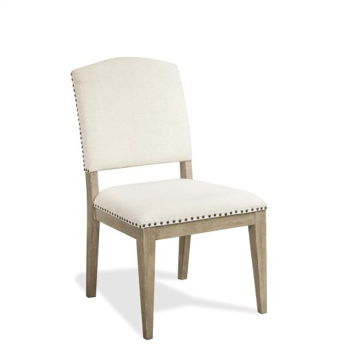Myra - Upholstered Side Chair - Natural Finish