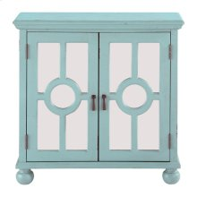 Accent Chest with Mirror Door-Aqua, 3A