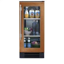 15 Inch Overlay Glass Door Undercounter Refrigerator - Left Hinge Overlay Glass