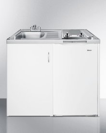 39 Inch All-in-one Combination Kitchen With Two Smoothtop Burners, Auto Defrost Refrigerator-freezer, Sink, and Cabinet