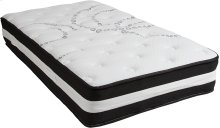 Capri Comfortable Sleep 12 Inch Foam and Pocket Spring Mattress, Twin in a Box