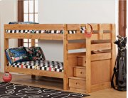 Twin/Twin Complete - Stairstep Bunkbed Product Image