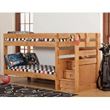 Twin/Twin Complete - Stairstep Bunkbed with Bunkies