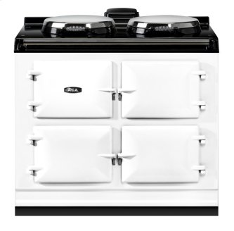 """AGA Dual Control 39"""" Electric White with Stainless Steel trim"""