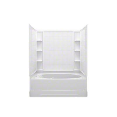 """Ensemble™ AFD, Series 7110, 60"""" x 36"""" x 74-1/4"""" Tile Bath/Shower - Right-hand Drain - White"""