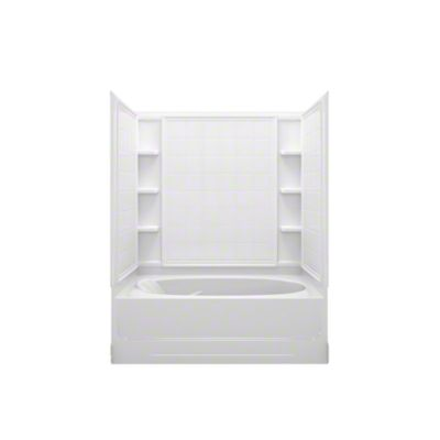 "Ensemble™ AFD, Series 7110, 60"" x 36"" x 74-1/4"" Tile Bath/Shower - Right-hand Drain - White"