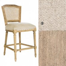 Ethan Counter Stool in Linen/Cane Back