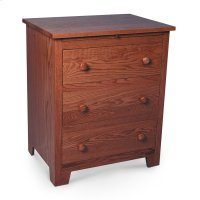 Shaker Deluxe Nightstand with Drawers Product Image