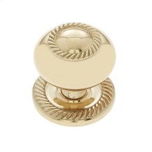 "Polished Brass 1-1/2"" Rope Knob"