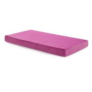 MaloufBrighton Bed Youth Gel Memory Foam Mattress - Full Pink