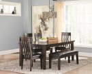RECT Dining Room EXT Table w/ 4 Chairs and Bench Product Image