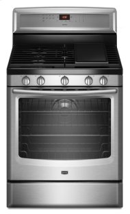 Stainless Steel Maytag® 5.8 cu. ft. Capacity Gas Range with EvenAir™ True Convection and Power Preheat