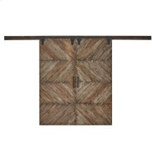 Double Sliding Door Parquet Texture