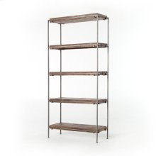 Gunmetal Finish Simien Bookshelf