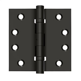 "4""x 4"" Square Hinges, Ball Bearings - Oil-rubbed Bronze"