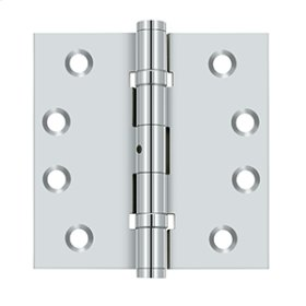 "4""x 4"" Square Hinges, Ball Bearings - Polished Chrome"