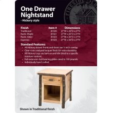 Hickory One Drawer Nightstand