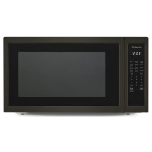 "KITCHENAID24"" Countertop Microwave Oven with PrintShield(TM) Finish - 1200 Watt - Black Stainless"