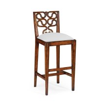 Serpentine Back Barstool (Side)