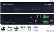 2x1 4K/18G HDMI Switcher, Audio De-embedding of Analog L/R Balanced/Unbalanced & Digital Coaxial Audio
