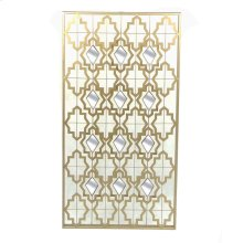 Gold Metal Wall Art W/ Mirrors