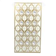 Gold Metal Wall Art W/ Mirrors
